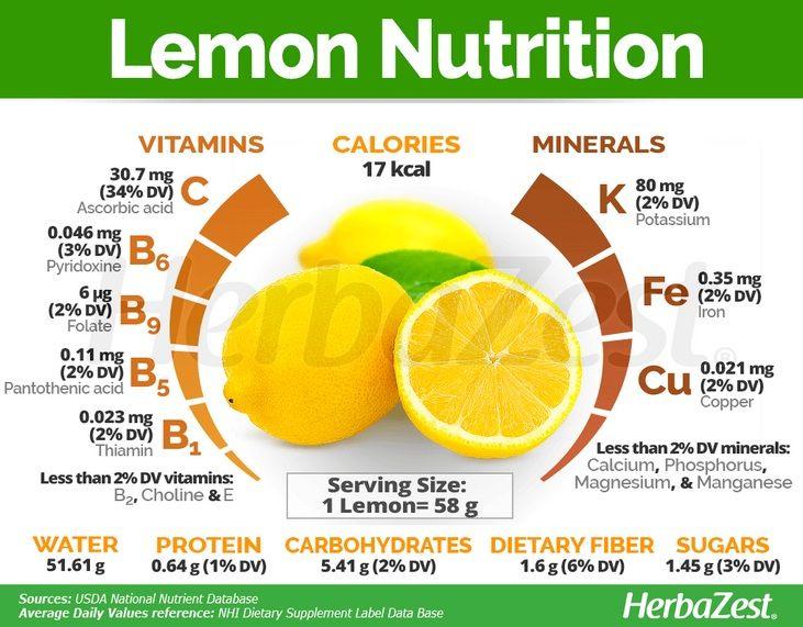 Kandungan Gizi Lemon
